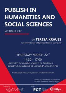 Workshop publish in Humanities and Social Sciences @ Faculdade de Economia | Faro | Faro | Portugal