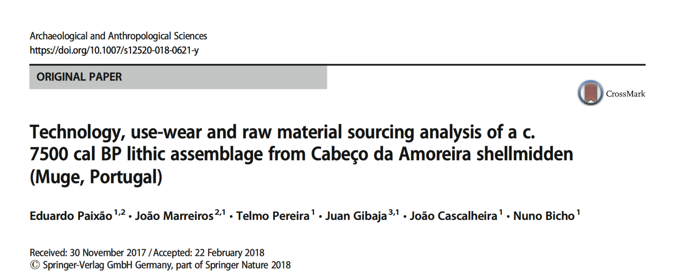 Lithic technology, use-wear and raw materials sourcing of Muge shellmiddens – new paper in Archaeological and Anthropological Sciences