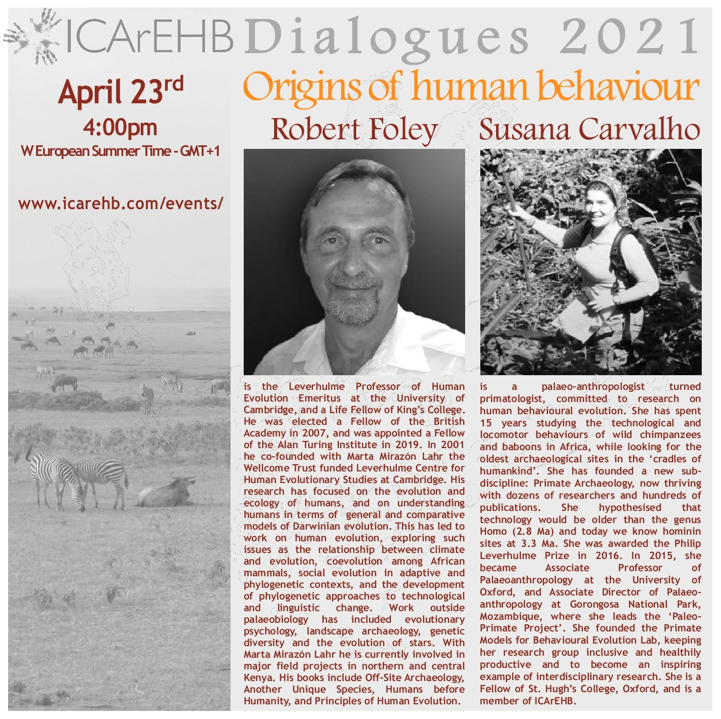 """ICArEHB Dialogues presents """"Origins of Human Behaviour"""""""